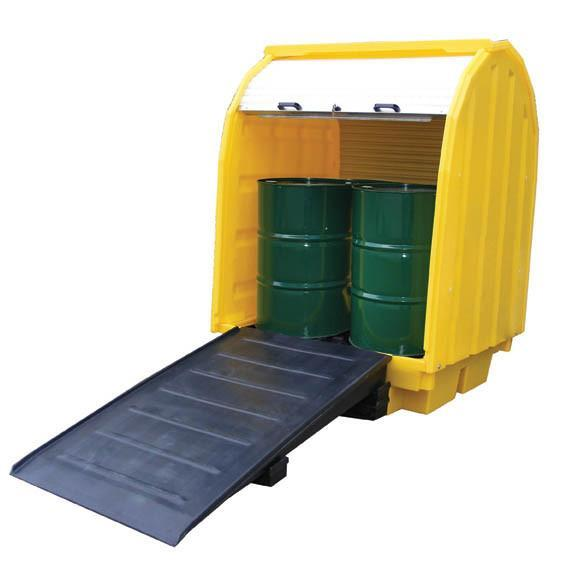 Ramp for use with hard covered spill pallets