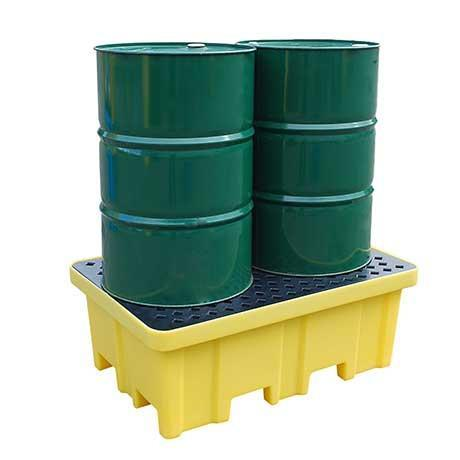 Spill Pallet for 2 drums - 4 way forklift entry