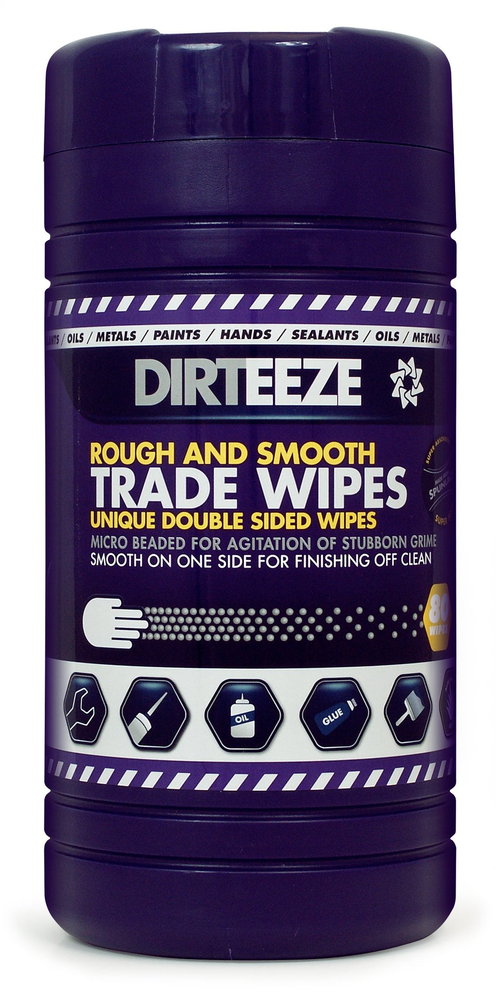 Dirteeze Rough & Smooth Trade Wipes - DGPCL80 ||8 Tubs of 80 Wipes
