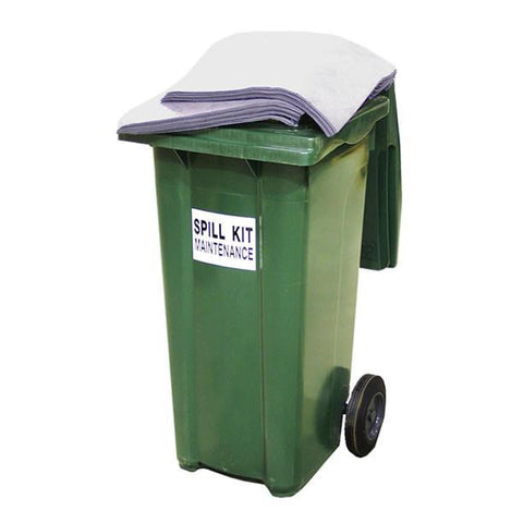 Wheelie Bin Maintenance Spill Kit ||Absorbs 84ltr