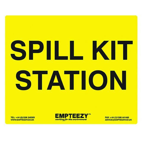 Spill Kit Station Sign ||Use with spill kits