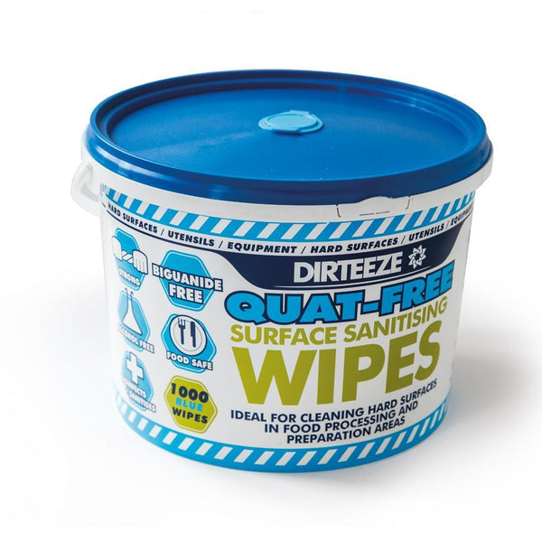 Quat-Free Surface Sanitising Wipes in a Bucket - HMAXB1000QF
