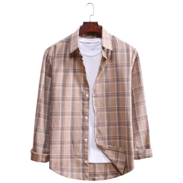 Men's Regular Fit Checked Casual Shirt