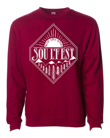 Diamond Sunrise Pullover - Maroon