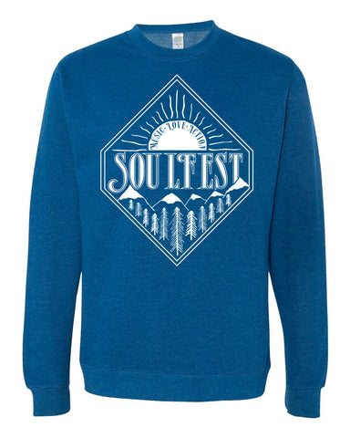 Diamond Sunrise Pullover - Royal Heather
