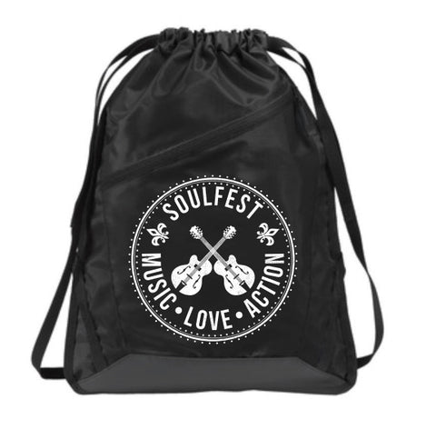 Dueling Guitars Drawstring Bag