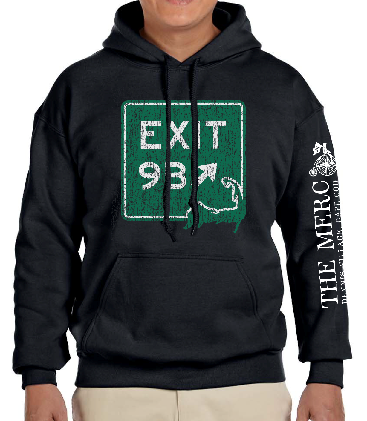 Green coozie with an EXIT 11 signs on the side and a Red Nun logo on the bottom
