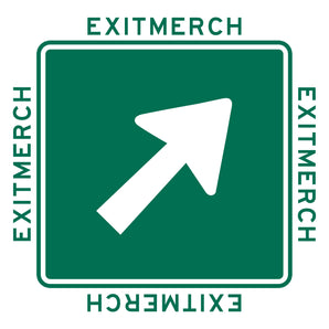 Features iconEXITMERCH logo green square with a white arrow and EXITMERCH on all four sides