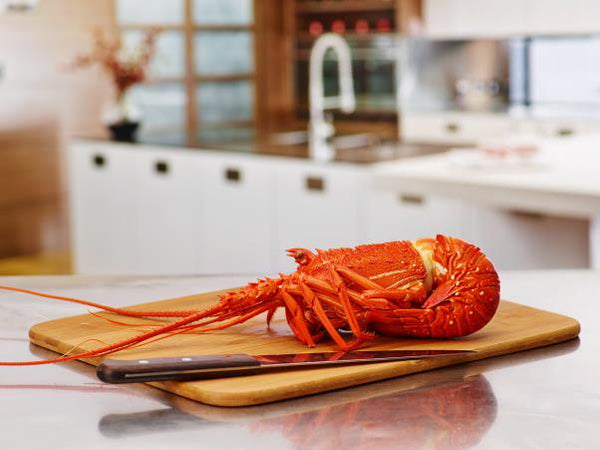 Frozen cooked West Australian lobster