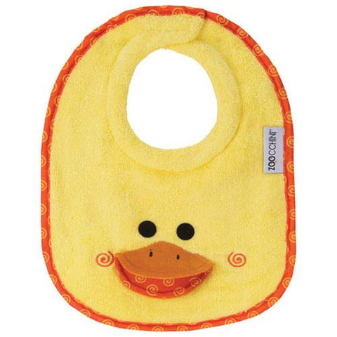 Zoocchini Baby Bib: Puddles the Duck