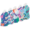 Squooshi: Hearts & Butterflies (10 Large Reusable Food Pouches, 5oz)