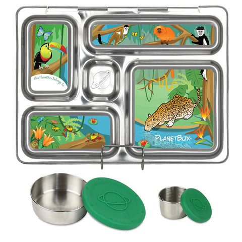 PlanetBox Rover with Two Sililid Dippers & Free Rainforest Magnets