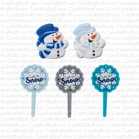 Let it Snow Blue (Rings & Picks, 5Pk)