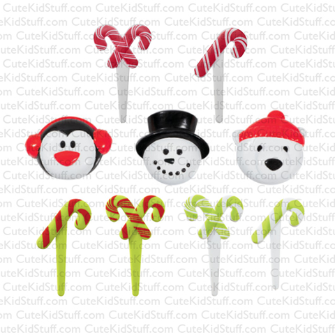 Cold Friends & Candy Canes (Rings & Picks, 9Pk)