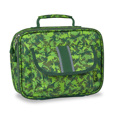 "Bixbee ""Dino Camo"" Kids Insulated Lunchbox - Green"