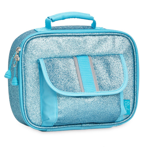 "Bixbee ""Sparkalicious"" Kids Insulated Glitter Lunchbox - Turquoise"