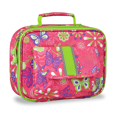 "Bixbee ""Butterfly Garden"" Kids Insulated Lunchbox - Pink"