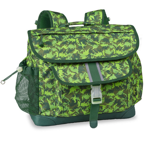 "Bixbee ""Dino Camo"" Kids Backpack - Green"