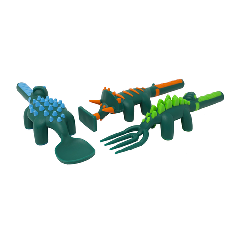 Constructive Eating: Dino Utensils