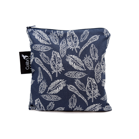 Colibri Large Reusable Snack Bag - Feather