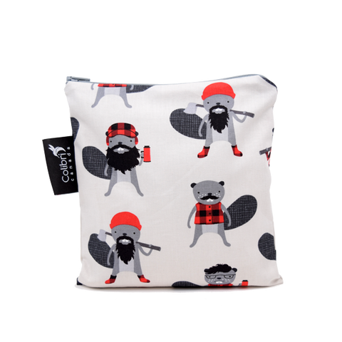 Colibri Large Reusable Snack Bag - Beavers