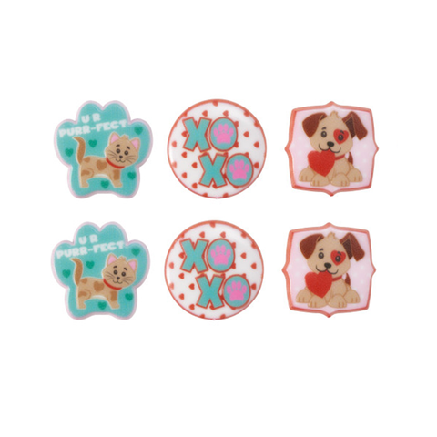 Paws & Kisses (Rings, 6Pk)