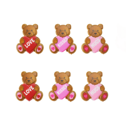 Valentine Bears (Rings, 6Pk)