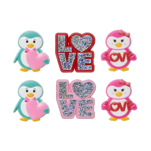 Love & Valentine Penguins (Rings, 6Pk)