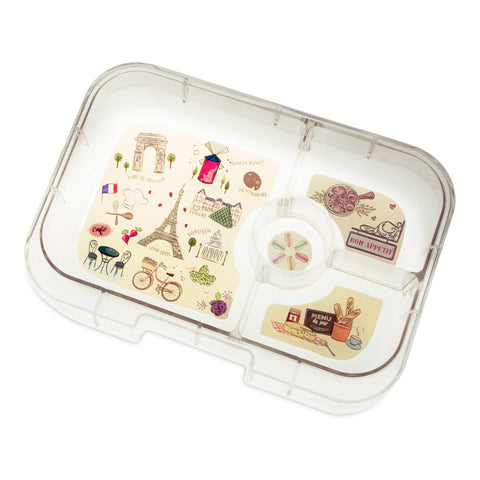 Yumbox Extra Tray: 4 Compartments, Paris theme