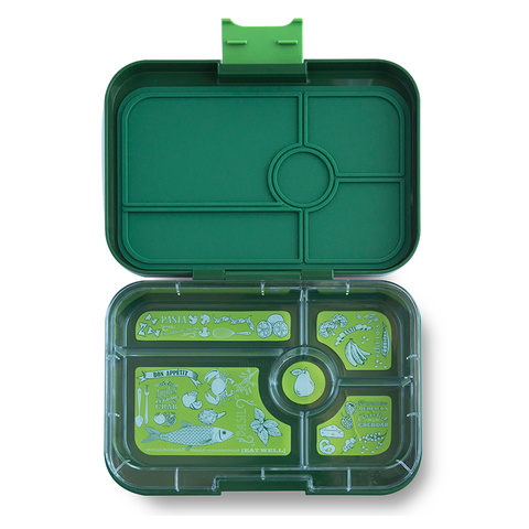 Yumbox Tapas - Brooklyn Green (5-Compartment Tray)