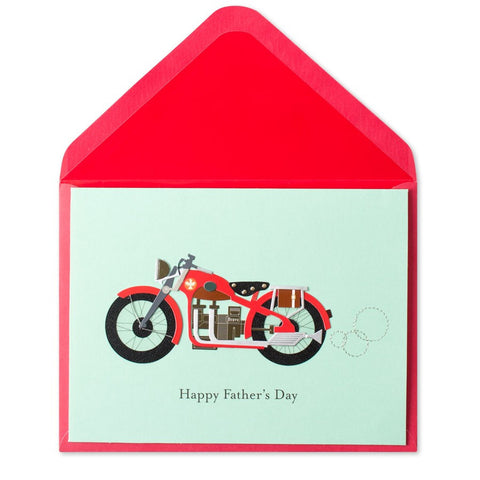 PAPYRUS Handmade Paper Motorcycle Father's Day Card | CuteKidStuff.com