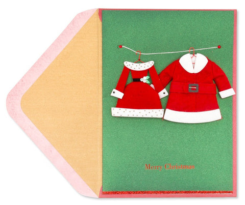 Handmade Santa Suits: PAPYRUS Greeting Card