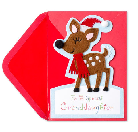 PAPYRUS Greeting Card: Handmade Reindeer (For Granddaughter) | CuteKidStuff.com