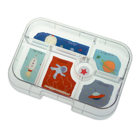 Yumbox Extra Tray: 6 Compartments, Space theme