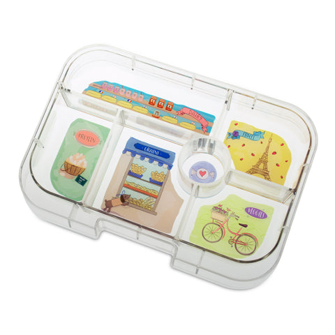 Yumbox Extra Tray: 6 Compartments, Paris theme