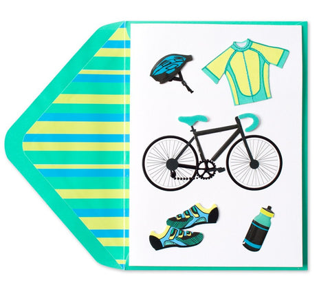 PAPYRUS Handmade Cycling Icons Father's Day Card | CuteKidStuff.com