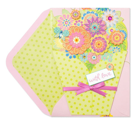 PAPYRUS Die-Cut Bouquet of Flowers Mother's Day Card | CuteKidStuff.com