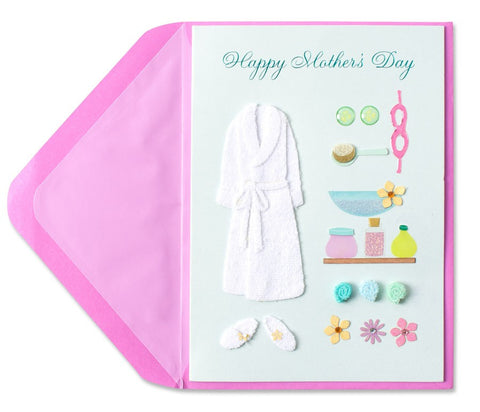 PAPYRUS Handmade Spa Outfit Mother's Day Card | CuteKidStuff.com