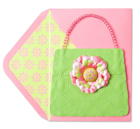 PAPYRUS Purse with Flower Button Mother's Day Card | CuteKidStuff.com