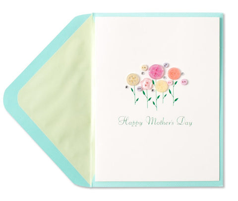 PAPYRUS Flower Buttons Mother's Day Card | CuteKidStuff.com