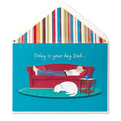 PAPYRUS Handmade Dad On Couch Father's Day Card | CuteKidStuff.com