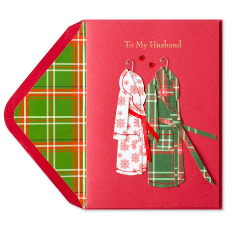 Copy of PAPYRUS Greeting Card: Holiday Robes (For Husband) | CuteKidStuff.com