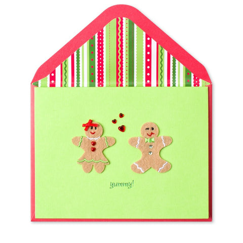 PAPYRUS Greeting Card: Gingerbread Couple | CuteKidStuff.com