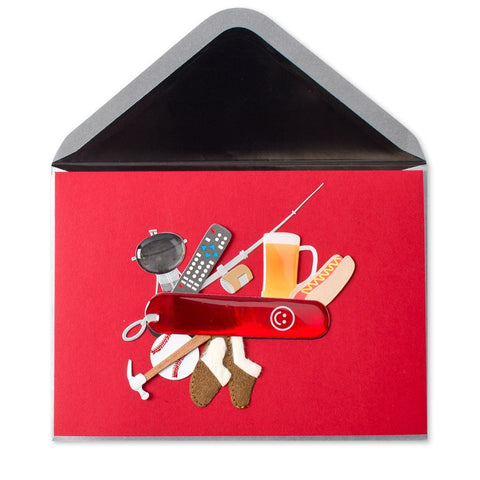 PAPYRUS Swiss Army Dad Father's Day Card | CuteKidStuff.com