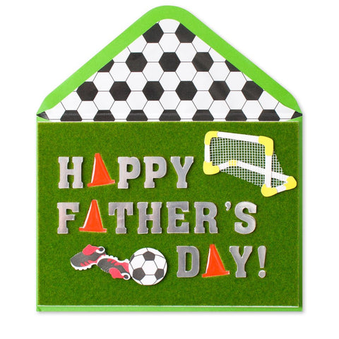 PAPYRUS Handmade Soccer Icons Father's Day Card | CuteKidStuff.com