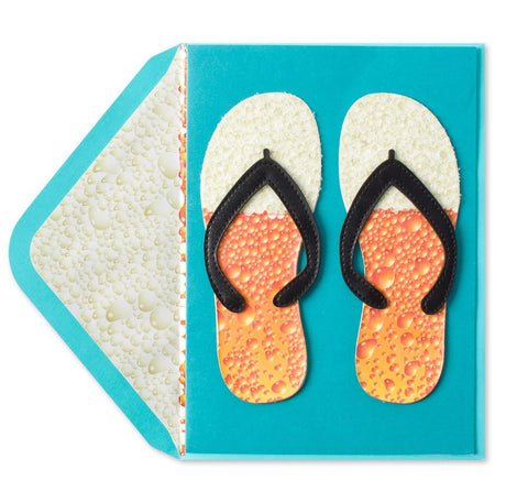 PAPYRUS Beer Flip Flops Father's Day Card | CuteKidStuff.com