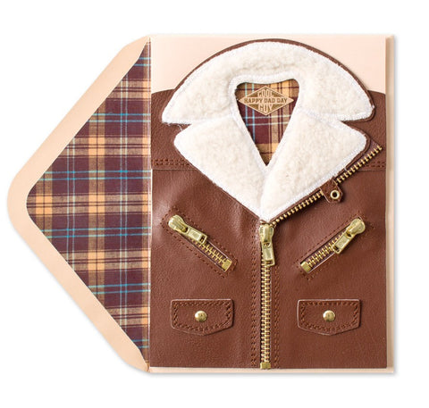 PAPYRUS Suede Jacket Father's Day Card | CuteKidStuff.com