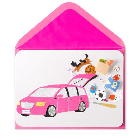 PAPYRUS Multi-Tasking Minivan Mom Mother's Day Card | CuteKidStuff.com