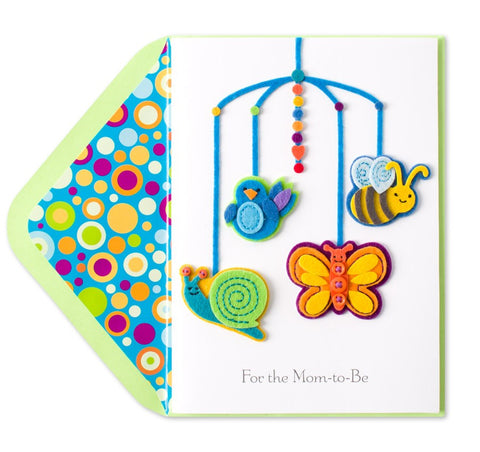 PAPYRUS Baby Mobile (For the Mom-To-Be) Mother's Day Card | CuteKidStuff.com