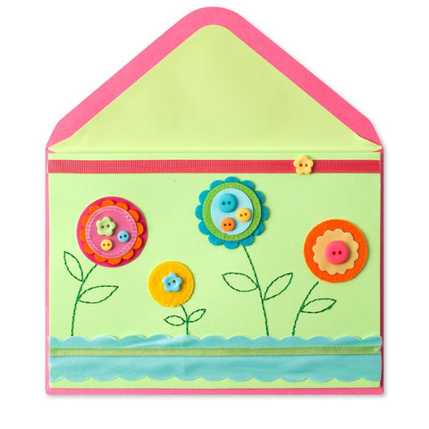 PAPYRUS Felt & Button Flowers Mother's Day Card | CuteKidStuff.com